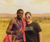 Leah with a Maasai warrior